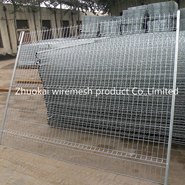 The hot dipped galvanized temporary fence will wash away the zinc layer?