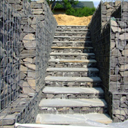 Maintenance and repair methods for gabion fence