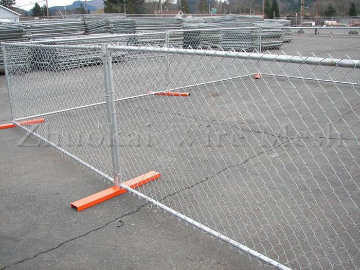 mesh fence and gate